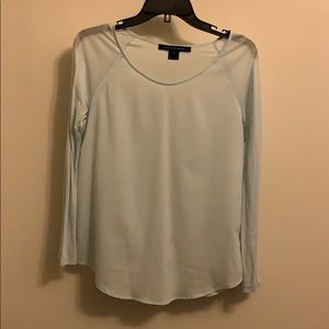 French Connection Tops - French Connection long sleeve baby blue shirt